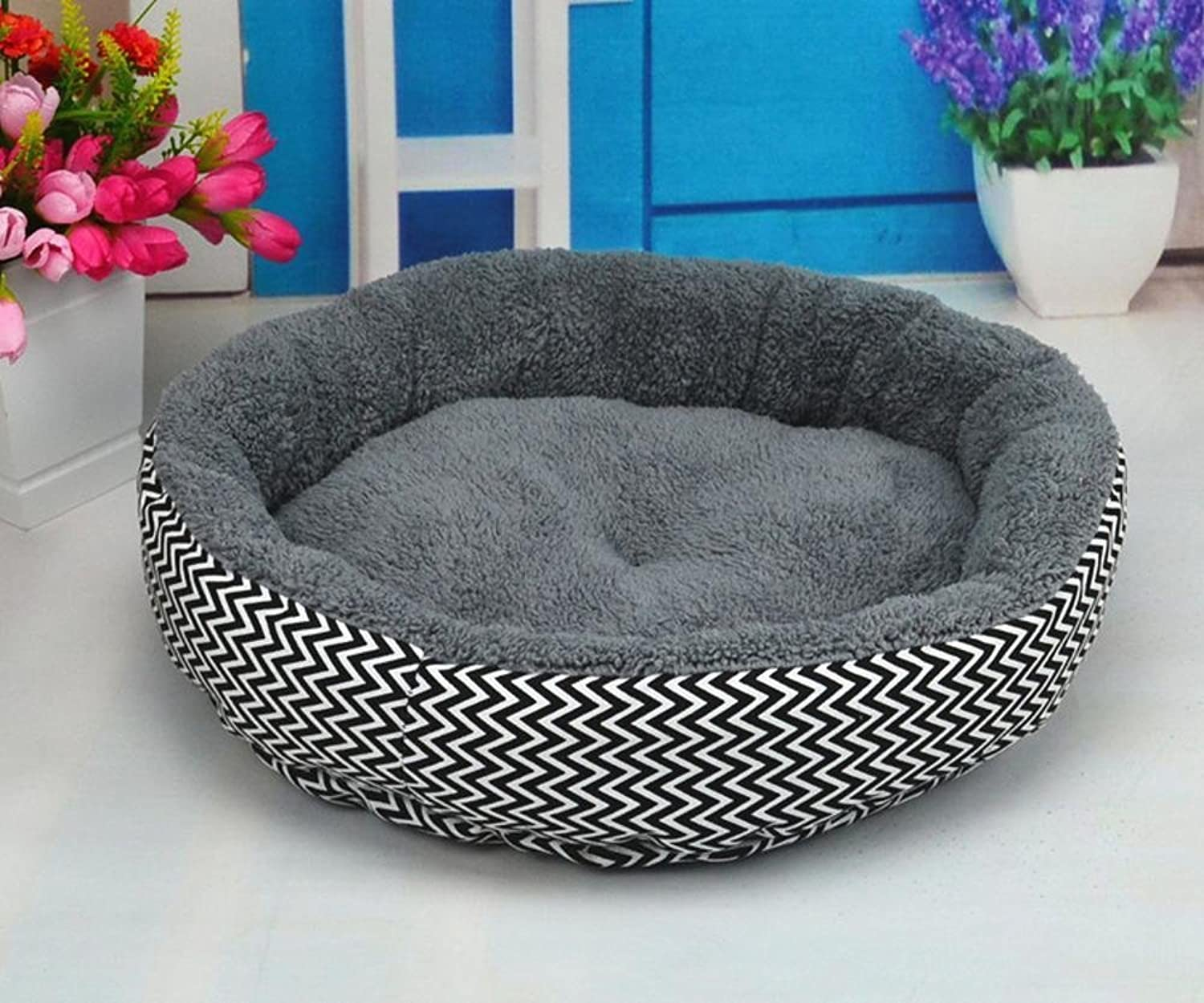 Lozse Pet Beds Pet Seat Mat Kennel comfort Printing canvas removable and washable for Dogs and Cats Sleeping Cushion