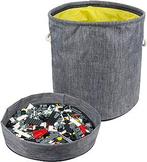 Ivesign Toy Storage Organizer Basket Slideaway Bag with Play Mat, Big