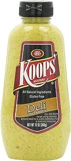 Koops Mustard Deli Spicy Brown, 12-Ounce (Pack of 6)