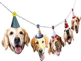 Golden Retriever Garland, dog birthday party banner decoration
