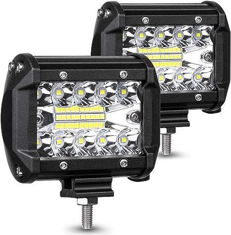 AMBOTHER LED Pods Light Bar 4-Inch 120-watt 12800-lumen