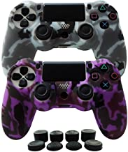 Hikfly Silicone Gel Controller Cover Skin Protector Compatible for Sony Playstation 4 PS4/PS4 Slim/PS4 Pro Controller (2X ...