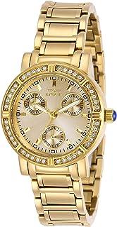 ساعة انفيكتا انجل كوارتز للنساء بسوار من الستانلس ستيل، ذهبي، 16 (موديل 29115)