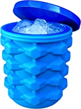 The Ultimate Ice Cube Maker Silicone Bucket with Lid Makes Small Size Nugget Ice Chips for Soft Drinks, Cocktail Ice, Wine On Ice, Crushed Ice Maker Cylinder Ice Trays, Ice Cup Maker Mold, Ice Holder