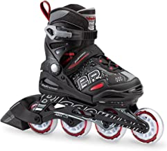 Bladerunner by Rollerblade Phoenix Boys Adjustable Fitness Inline Skate, Black and Red, Junior, Value Performance Inline S...