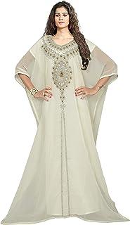 فستان KoC نسائي طويل طويل صيفي من قفطان Farasha Caftan مقاس حر