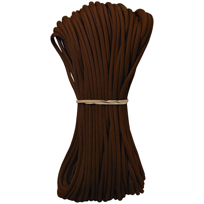 Pepperell Parachute Cord, 4mm by 100-Feet, Dark Brown