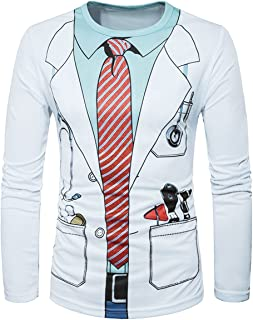 S (US 36), White-Doctor Costume : Generic WHATLEES Authorized Men 3D Prints Long Sleeves T-Shirt