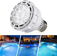Sunluway 120V 25 W E26 LED Pool Light Bulb, Led Spa Bulb 6000k Daylight White Hot Tub Bulb Replacement for Pentair or Hayward Underwater Lights Fixture