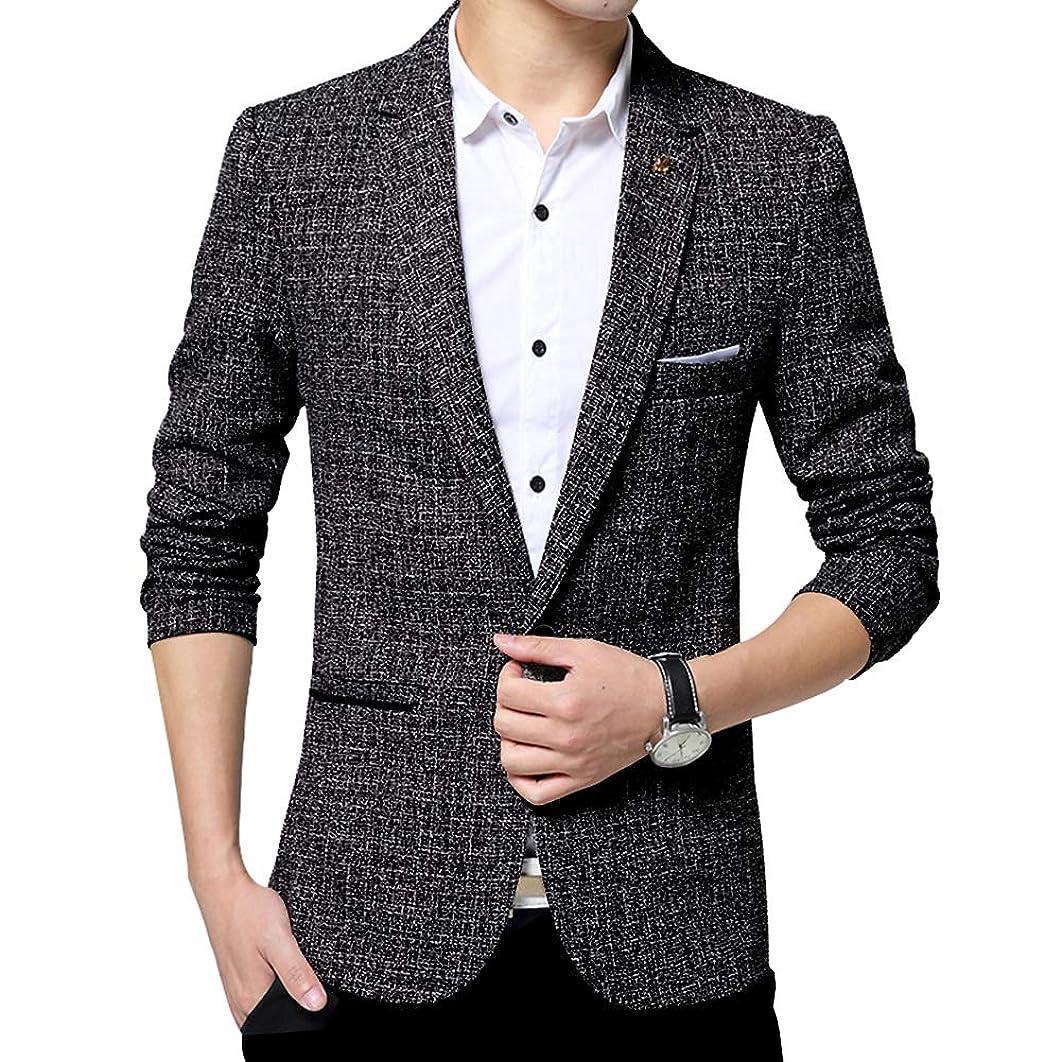 Men's Blazer Jacket Slim Fit One Button Sport Coat Notch Lapel Casual Business Solid Single Breasted Outwear
