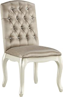 Ashley Furniture Signature Design - Cassimore Upholstered Chair - Diamond Tufted Back w/ Faux Crystals - Silvertone Finish - Made of Wood