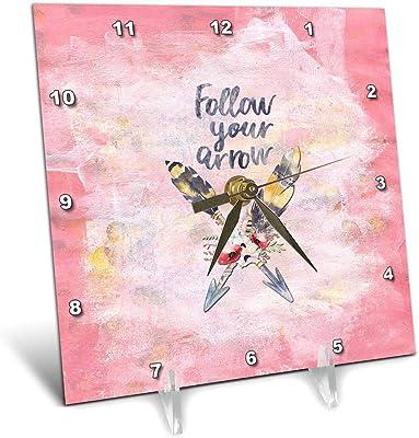 3dRose - Reloj de Escritorio, 15,2 x 15,2 cm