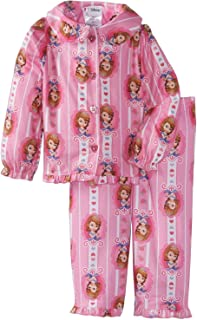 Sofia The First Little Girls' Hearts Button Front 2 Piece Pajama Set