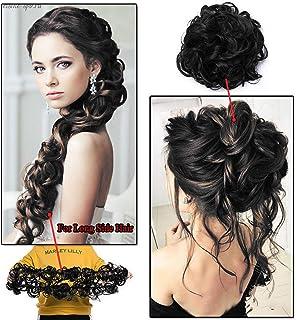 27fd4de9b8e Ekan Ponytail Frill Hair Extensions For Women, Messy Juda Bun Maker, 20  Grams,