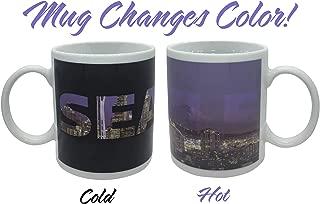 Seattle Skyline Color Changing Coffee Mug