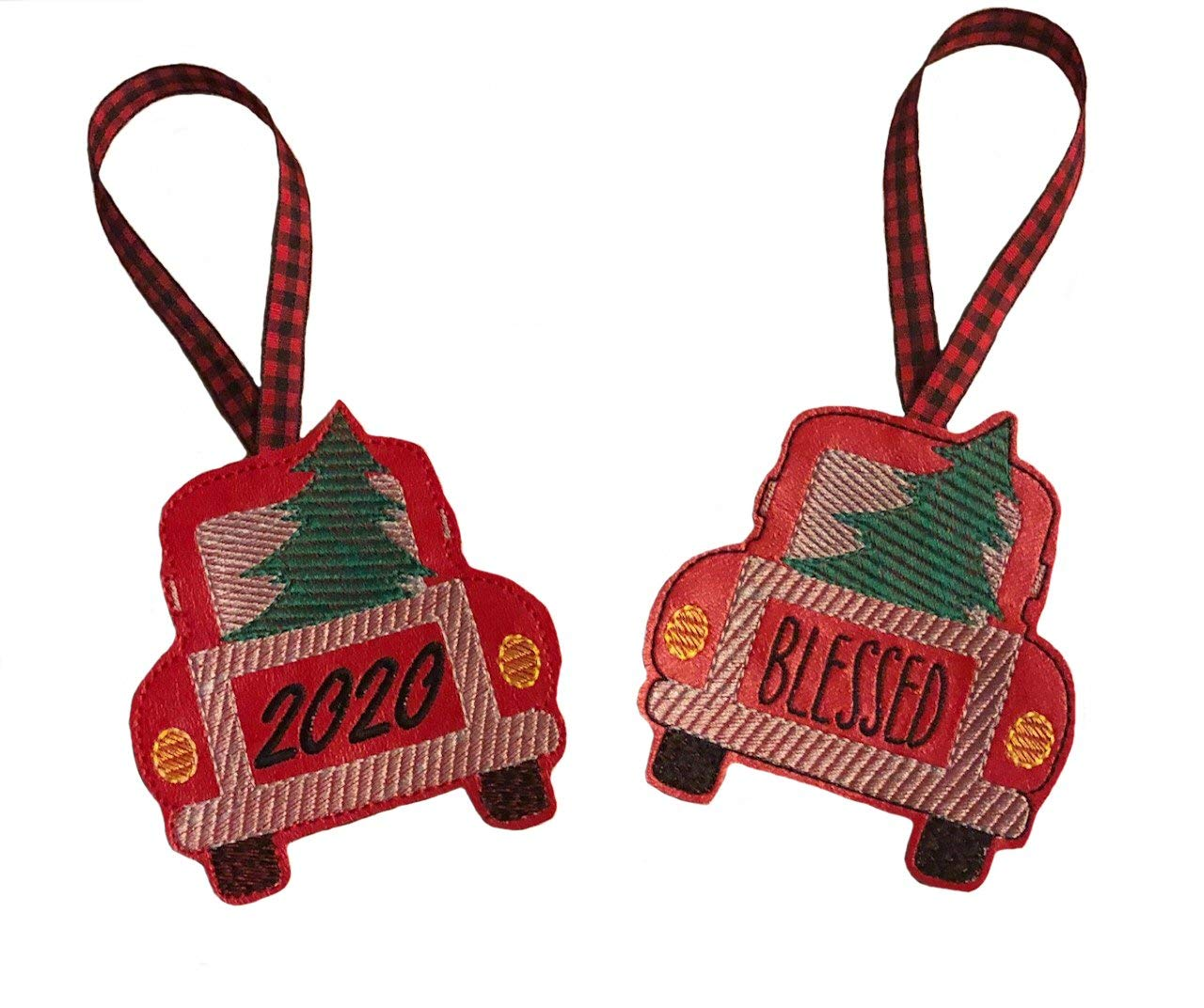 NEW Christmas Tree Truck Ornament 2020 BLESSED or Columbus Mall