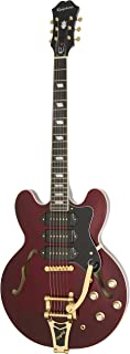 Epiphone Riviera Custom P93 - Guitarra eléctrica, color wine red