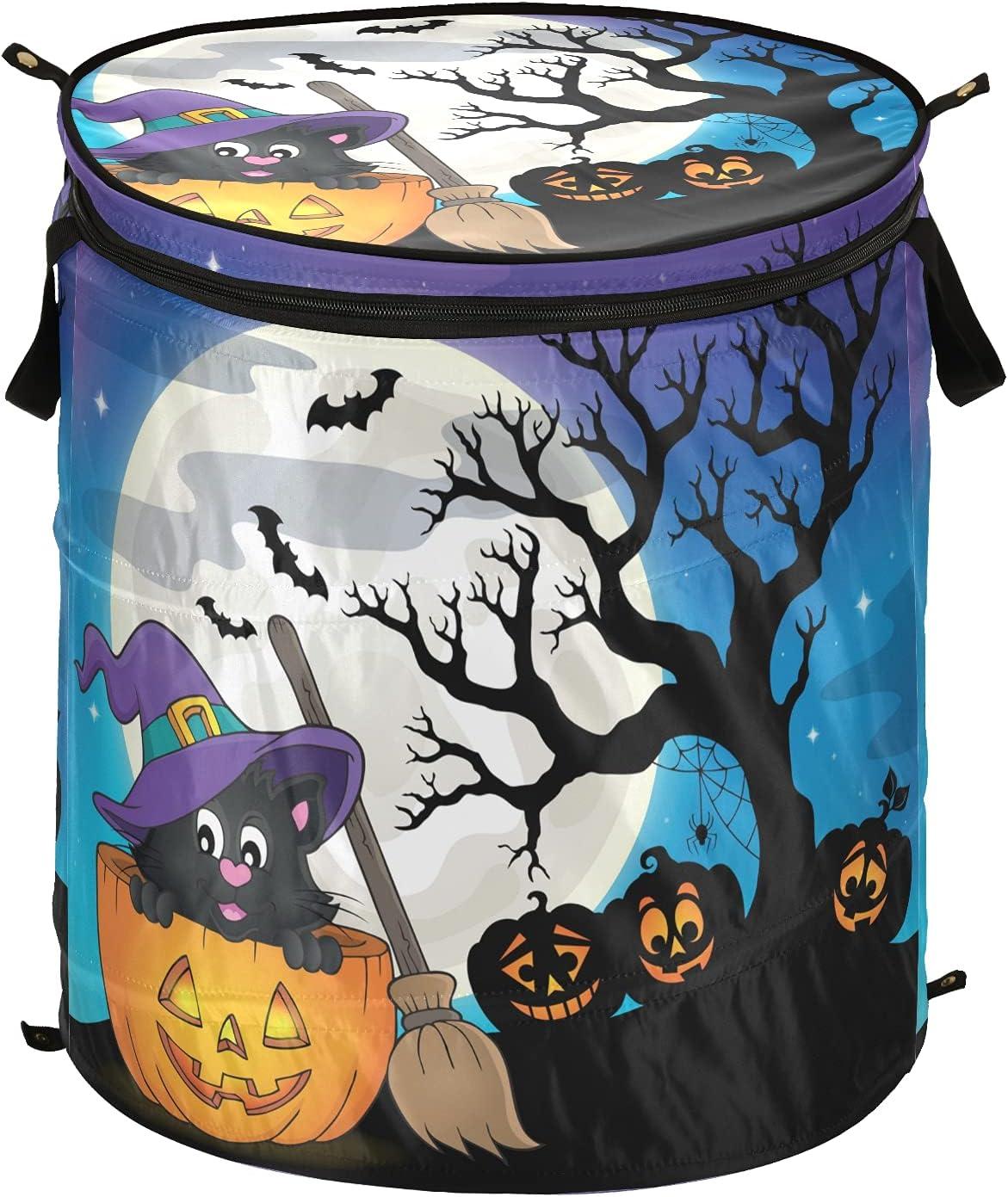 Halloween Jack Lantern Pumpkin Overseas parallel import regular item Max 48% OFF Full Moon w Pop Laundry Hamper Up