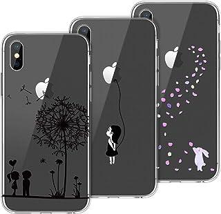 2e143fe3ca8 Yokata [3 Packs Funda iPhone X iPhone XS Carcasa Silicona Transparente Case  Ultra Slim TPU