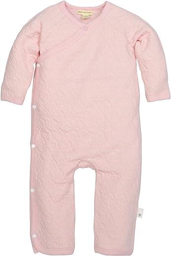 برت بيس بيبي - بدلة رومبر للبنات الرضع، مصنوعة من القطن العضوي 100%، قطعة واحدة تغطي كامل الجسم