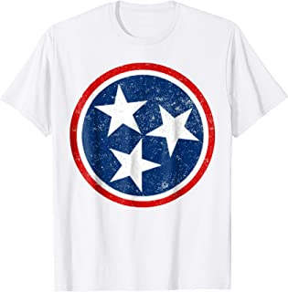Tennessee Volunteer State - Distressed Tristar Flag Shirt