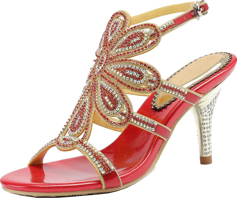 Vimedea Womens Heeled Sandal Wedding Dress Bride Bridemaid Party Leisure Sandals L049