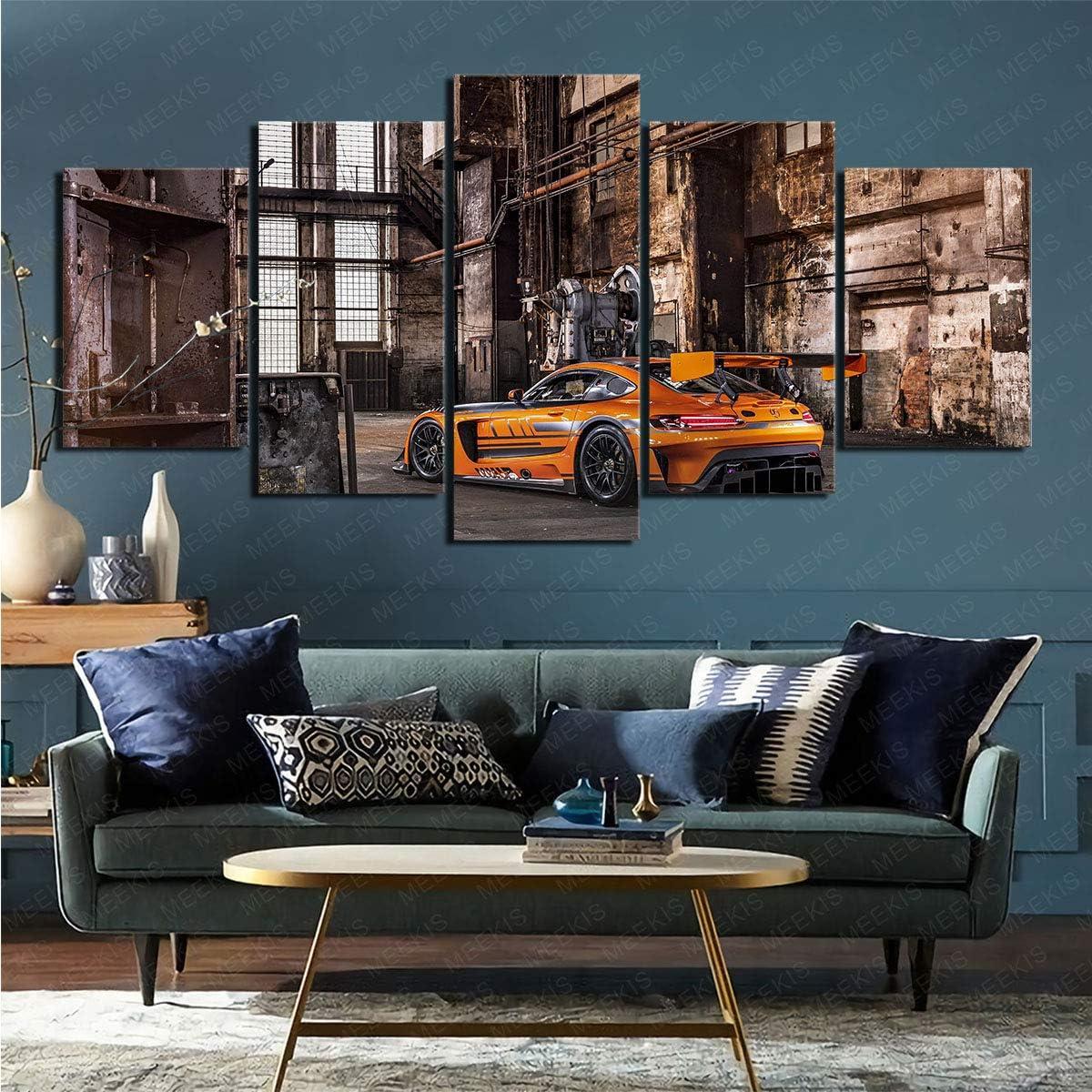 CELLYONE 5 Wandkunst Gem/älde Wanddekoration Comics Harley Quinn f/ür Wohnzimmer Schlafzimmer 100x50cm mit Rahmen