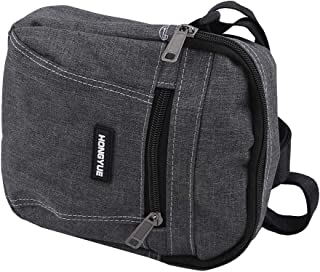 KISSFRIDAY KISSFRIDAY Nylon Crossbody Umhängetasche für Männer Multifunktions-Reisetasche,Dunkelgrau