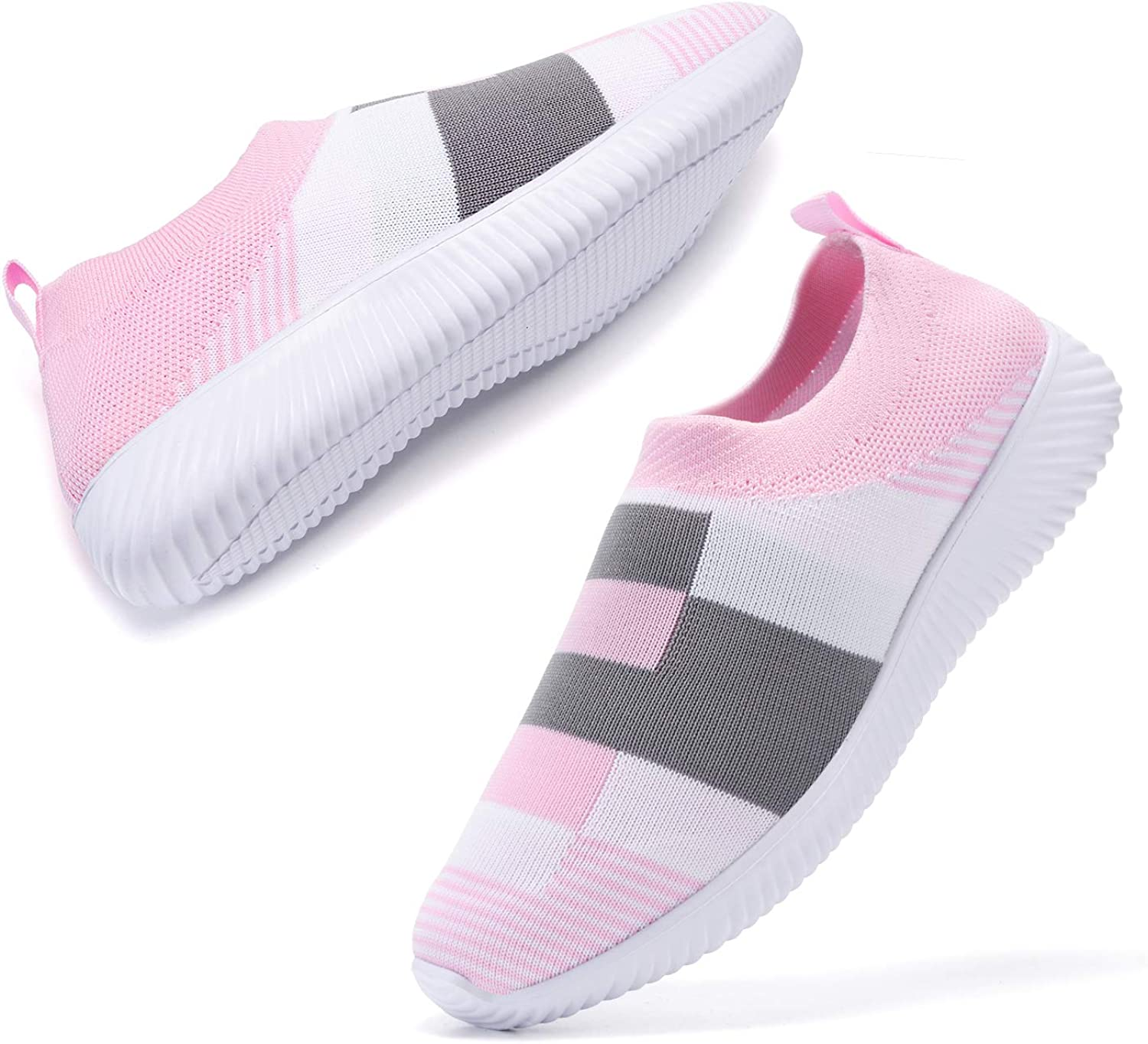 AEMAPE Women Walking Shoes Lightweight Tennis Shoes Breathable mesh Casual Running Shoes Fashion Sneakers Slip on Sock Shoes