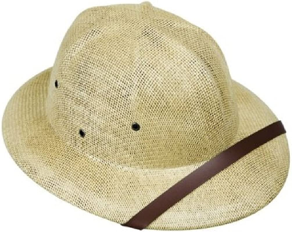 Adult's Beige Safari Pith Hat National products service Costume Helmet