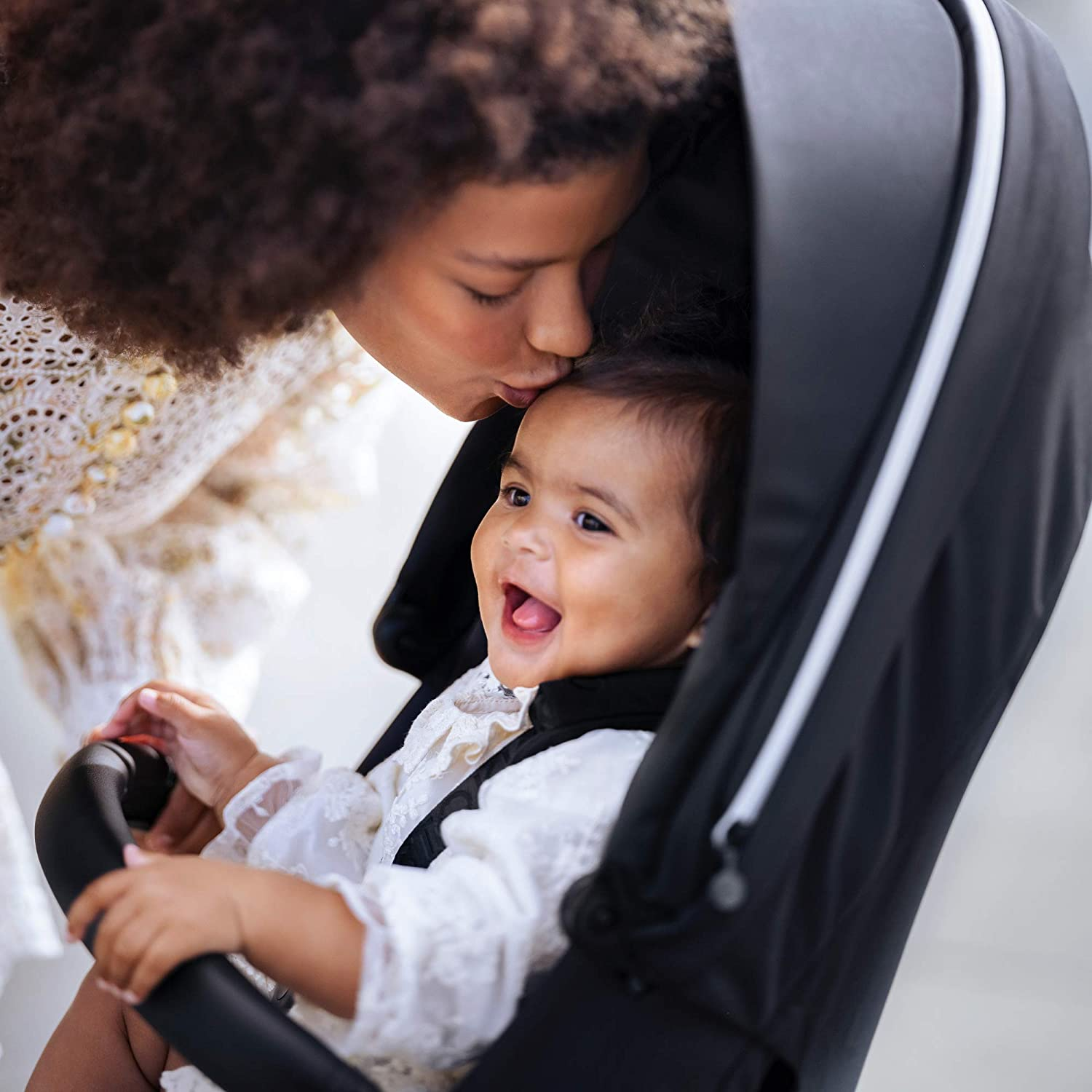 Stokke Xplory X, Ruby Red - Luxury Stroller - Adjustable for Both Baby & Parents' Comfort - Padding, Harness & Reflective Zipper for Added Safety - Folds in One Step