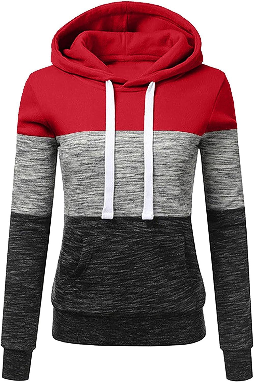Womens Casual Hoodies Sweatshirt Hooded 2021 spring and summer new 4 years warranty Ladies Blouse Patchwork