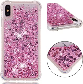 iPhone Xs Max Case, Dooge [Liquid Series] Luxury Bling Floating Sparkle Glitter Quicksand Shockproof Anti Scratch Girls Women Protective Bumper Case for Apple iPhone Xs Max 6.5 inch
