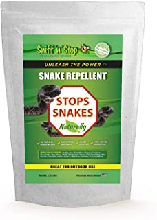 Sniff 'n' Stop Snake Repellent - for Outdoors and Perimeter - All Natural and Pet Safe - Alternative to Mothballs - Repels All Types of Snakes - Guaranteed Effective. (1.25 lb)