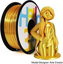 Hello3D Silk PLA Filament 1.75mm, OEM 3D Printer Filament Silk Filament, Silky Shiny Filament PLA for 3D Printers and Pens, 1KG (2.2Lbs) 1 Spool (Silk Gold)