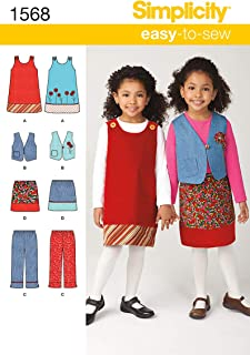 Simplicity Creative Patterns 1568 Child's Jumper, Vest, Pants and Skirt, A (3-4-5-6-7-8)