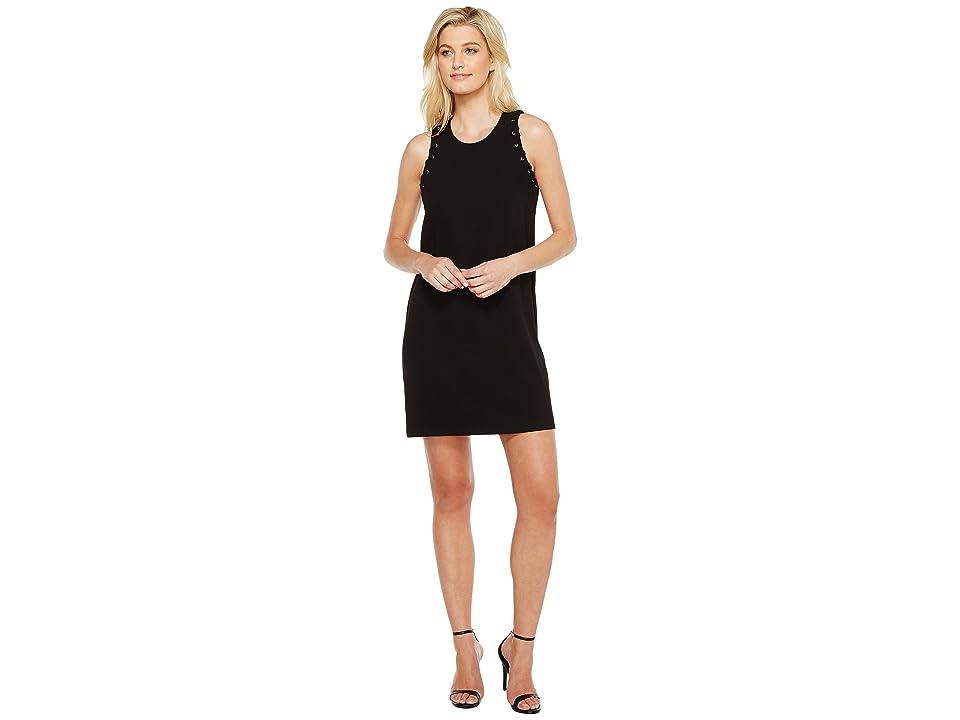 Karen Kane Eyelet Shift Dress (Black) Women