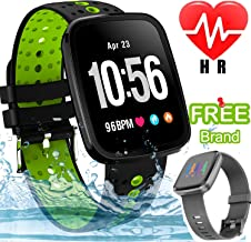 Smart Watch Waterproof Fitness Tracker with Heart Rate Monitor Blood Pressure Watch Men Women Birthday Electronic Gifts Outdoor Sport Watch Calorie Step Swim Camp Smart Wristband Sycn Android iOS
