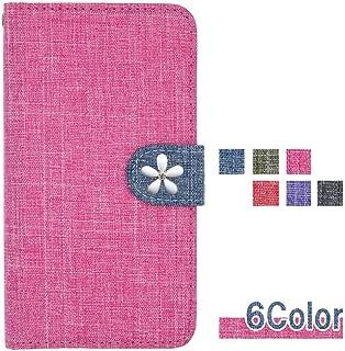 【ロゼ(Rosee)】 Asus ZenFone 5 ZE620KL / ZenFone 5Z ZS620KL 手帳型 ケース カバー 手帳ケース 手帳カバー スマホ カードポケット キャラクター ダイアリー スマホケース 全機種対応 リネン風 白い花 可愛い 和風 大人 国内生産 Pink