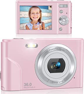 Digital Camera, Lecran FHD 1080P 36.0 Mega Pixels Vlogging Camera with 16X Digital Zoom, LCD Screen, Compact Portable Mini...