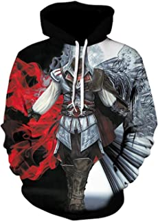 Harajuku Assassins Creed Game Pullover Hoodies Unisex 3D Print Sweatshirt