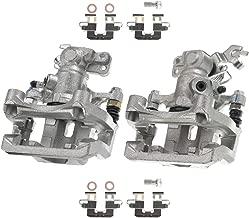 A-Premium Brake Caliper with Bracket for Ford Fusion Lincoln MKZ Zephyr Mazda 6 Mercury Milan 2006-2012 Rear Side 2-PC