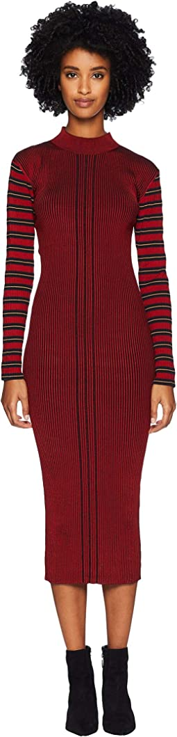 Rib Striped Dress