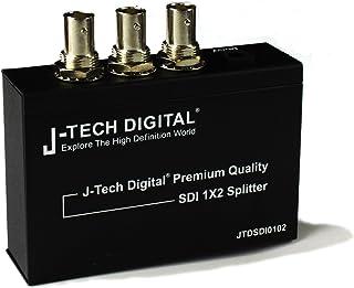 J-Tech Digital Premium Quality SDI Splitter 1x2 Supports SD-SDI, HD-SDI, 3G-SDI up to 1320 Ft (1 Input and 2 outputs)