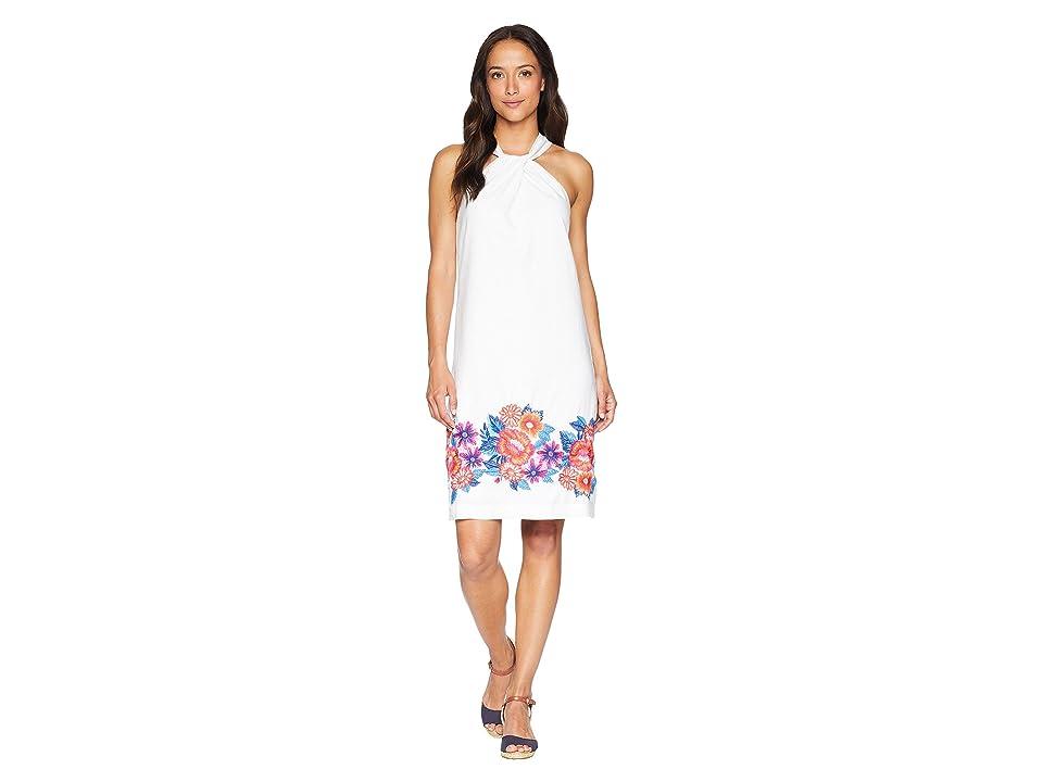 Tommy Bahama Frieda Floral Halter Dress (White) Women