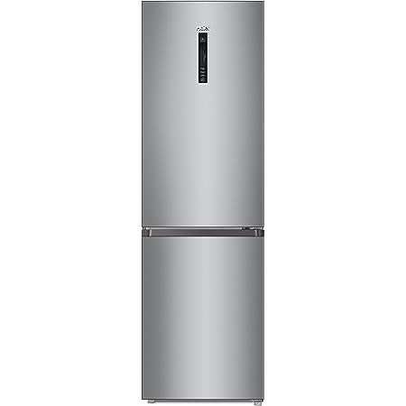 Réfrigérateur combiné inox Haier CFE735CSJ - Frigo congélateur en bas - 341 litres - No Frost total - Réfrigérateur 233 litres / Congélateur 108 litres - Dégivrage automatique -