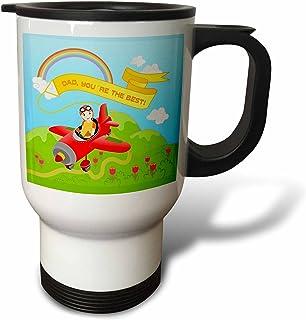 vintagechest–Fairy Tales–vogel–الثلج ، أبيض و أحمر وردي–مصنوع من الصلب يزن 396.8جم, 14oz Travel Mug, Black/White