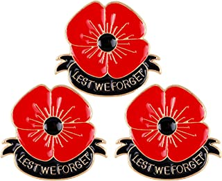 lest we forget poppy brooch