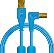Chroma Cables: Audio Optimized USB-A to USB-B Right-Angle Cable (Blue)