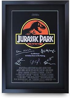 HWC Trading Jurassic Park A3 Enmarcado Regalo De Visualización De Fotos De Impresión De Imagen Impresa Autógrafo Firmado por Los Aficionados Al Cine